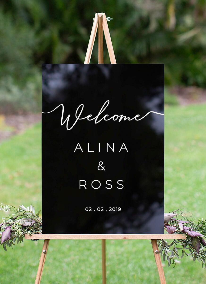 Rosey - Wedding Signs