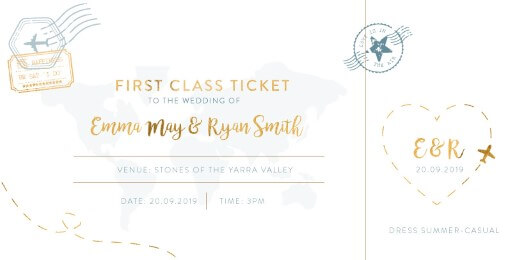 Lets Travel Together Wedding Invitations - wedding invitations