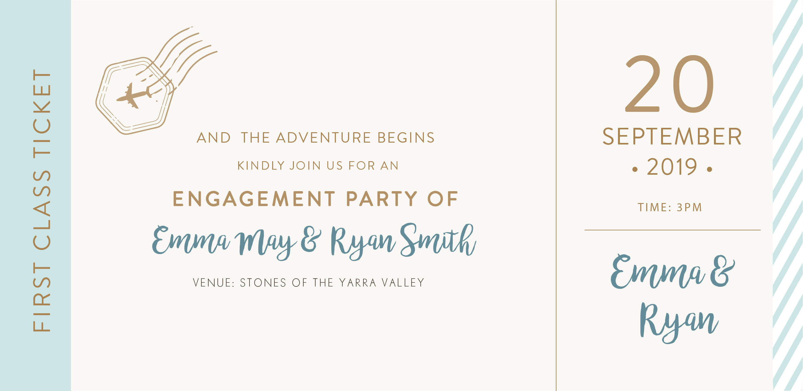 Lets Travel Together - Engagement Invitations