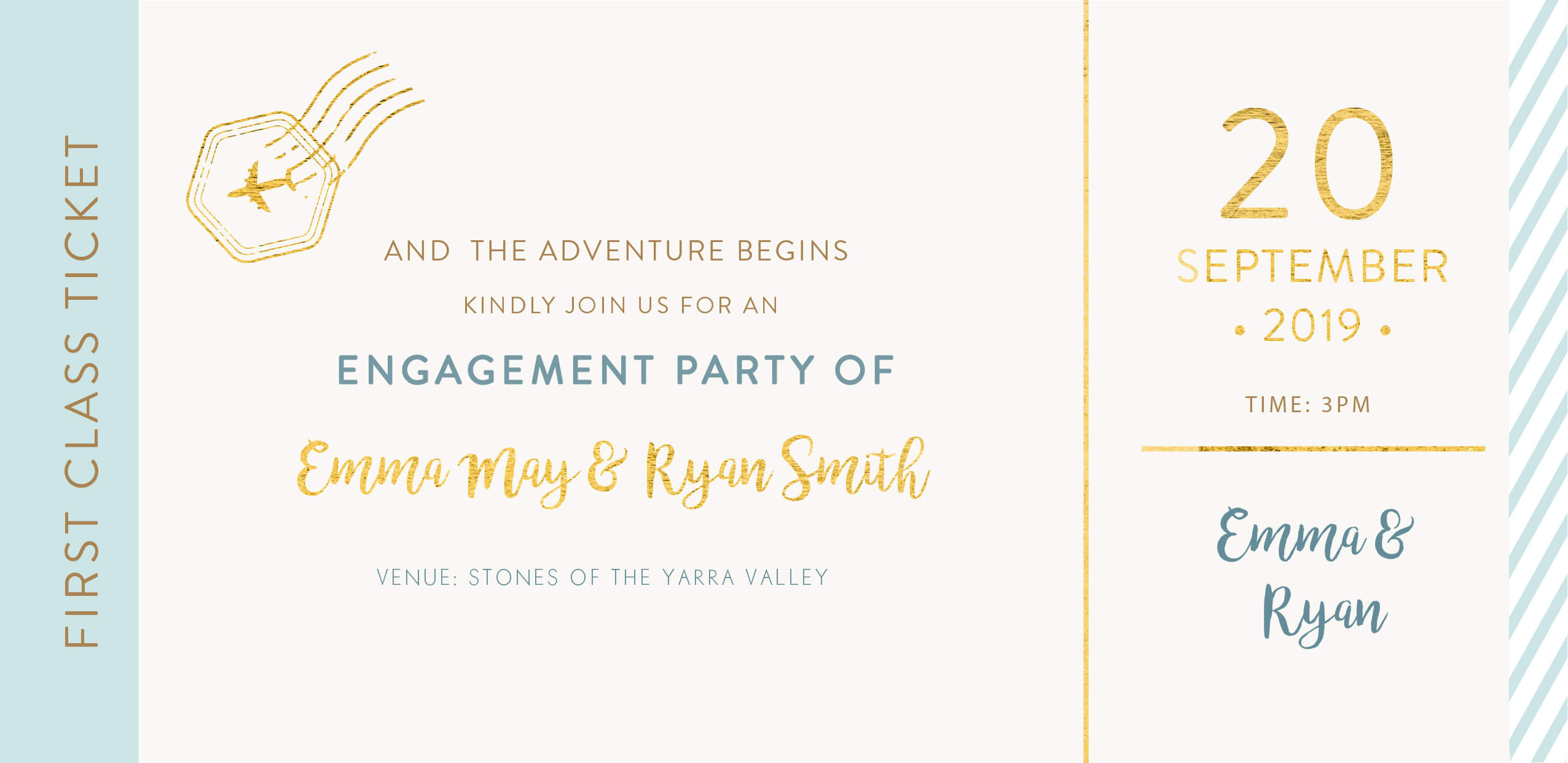 Lets Travel Together - Engagement Invitations
