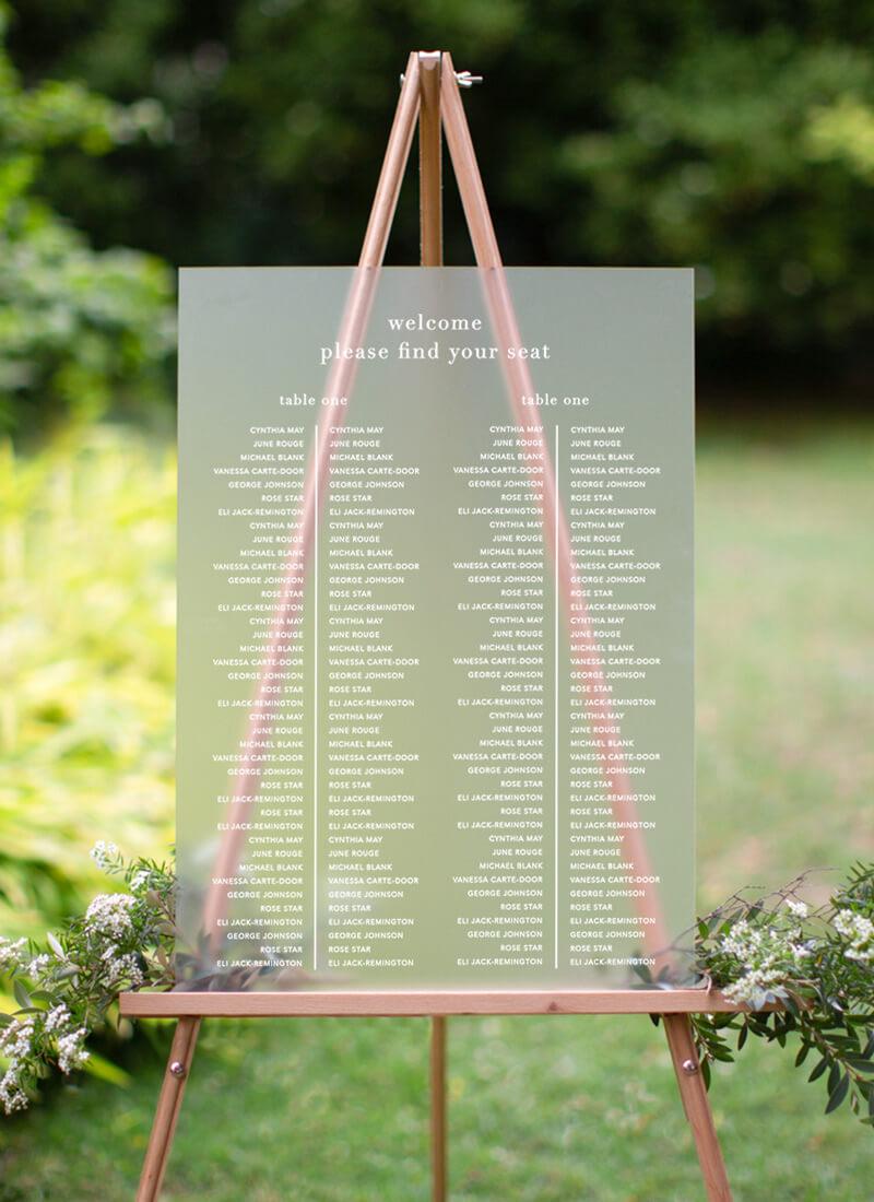 Delilah - Seating Charts