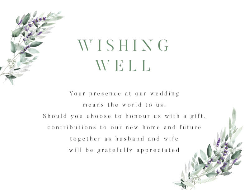Lavender Leaves - Wishing Well