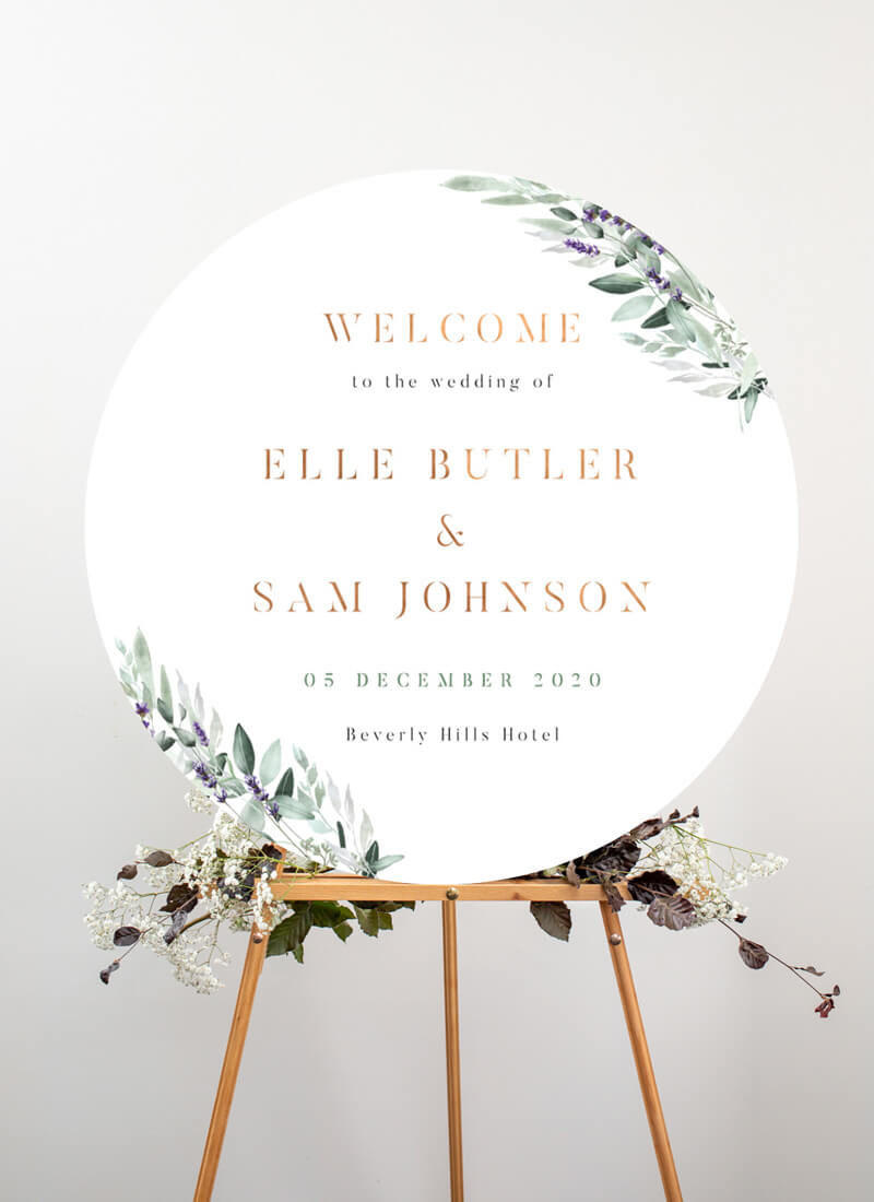 Lavender Leaves - Wedding Signs