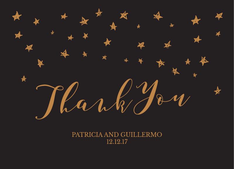 Stars in the night - Thank You Cards
