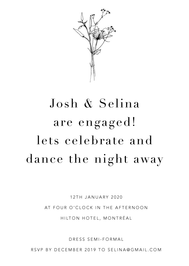 Delilah - Engagement Invitations