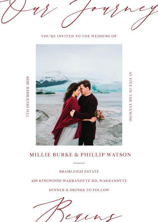 The Letters Wedding Invitations - wedding invitations