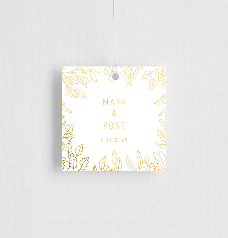 Gold Foil Frame - Gift Tags