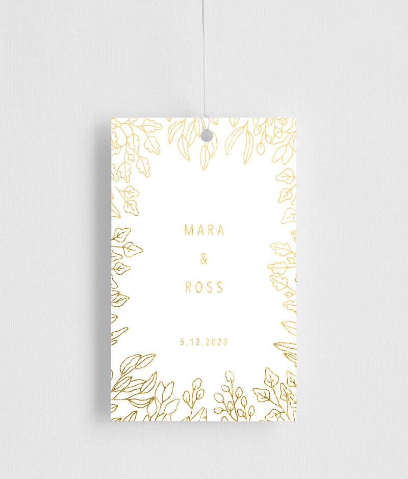 Gold Foil Frame - Gift Tags