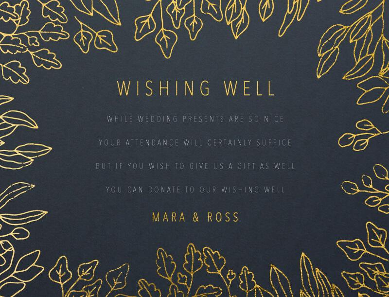 Gold Foil Frame - Wishing Well