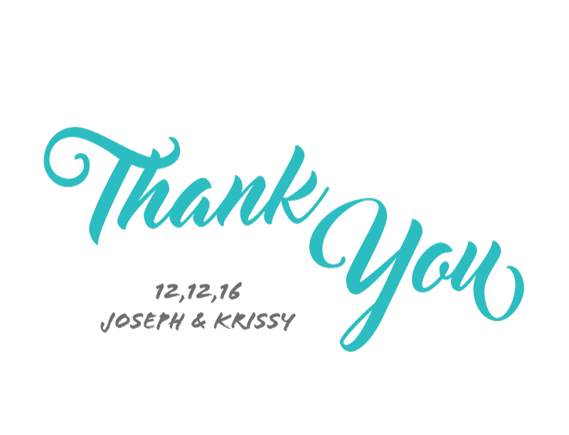 Modern Script - Thank You Cards