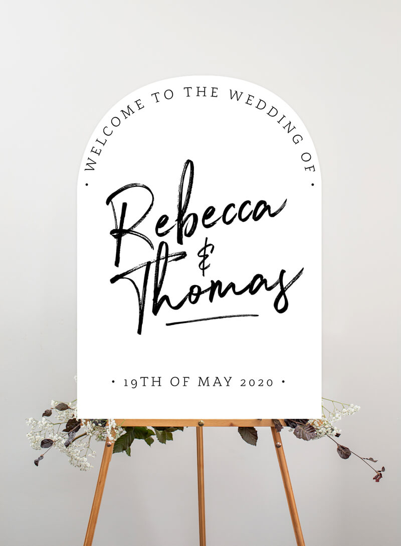 Simple Script - Wedding Signs