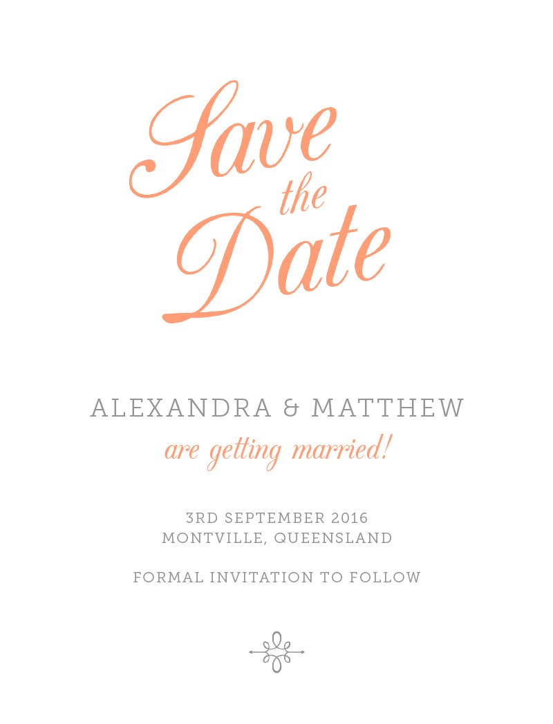 Pretty in pink - Save The Date