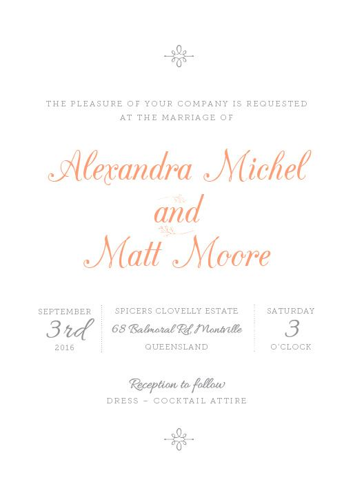 Pretty in pink - Invitations