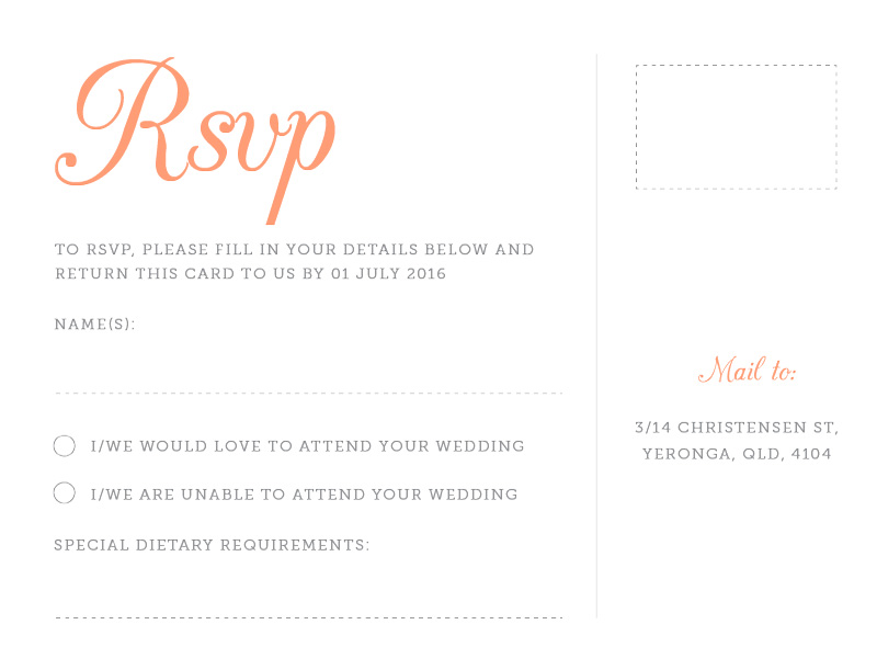 Pretty in pink - RSVP Cards