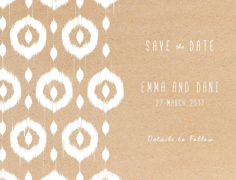 Transcended Ikat - Save The Date