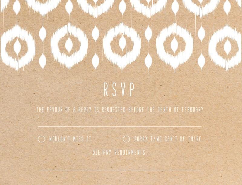 Transcended Ikat - RSVP Cards
