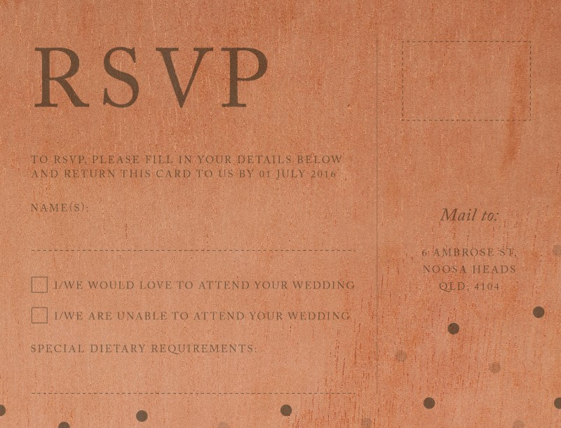 Delicate dots - RSVP Cards