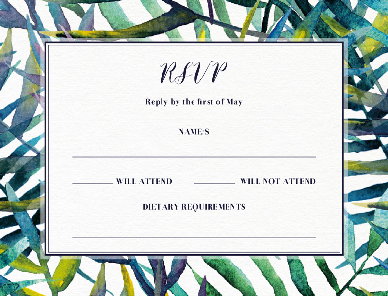 Tropic Tranquility - RSVP Cards