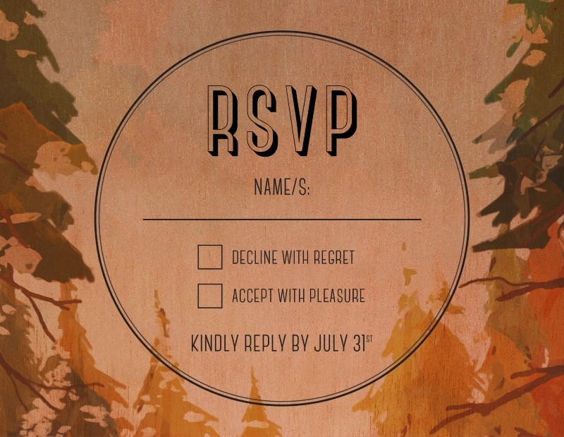 Beyond The Pines - RSVP Cards