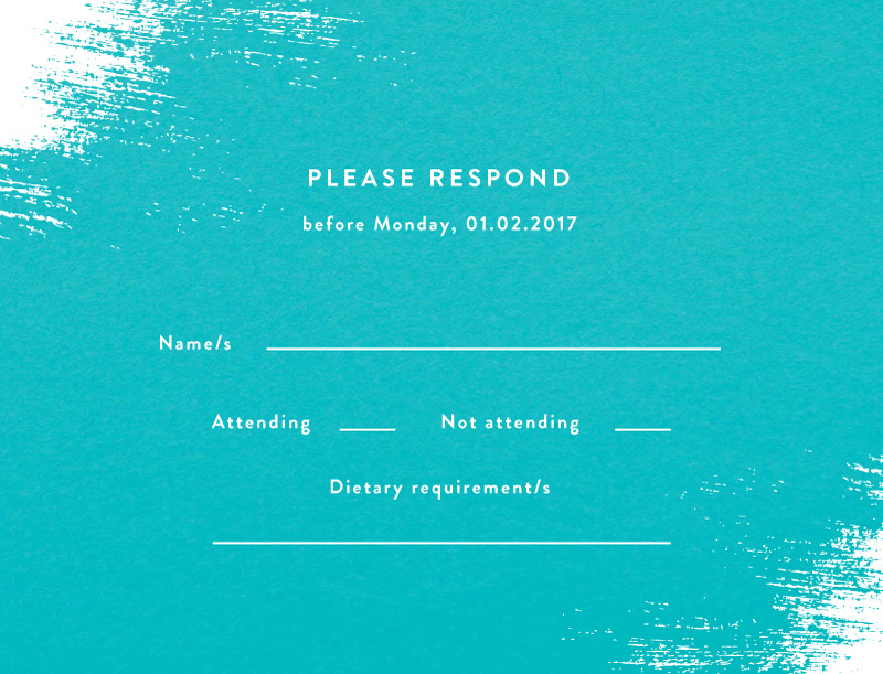 White Paint - RSVP Cards