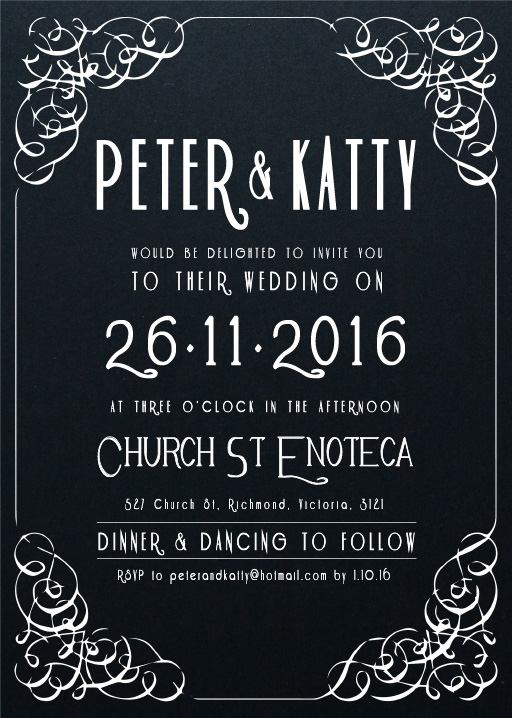 Art Deco No1 Invitations - wedding invitations