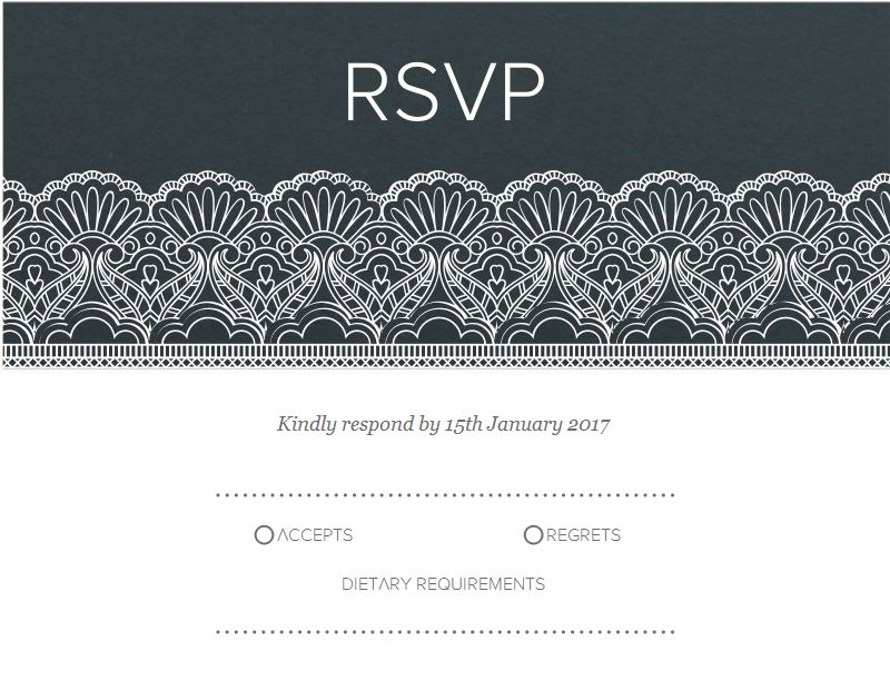 White Lace - RSVP Cards