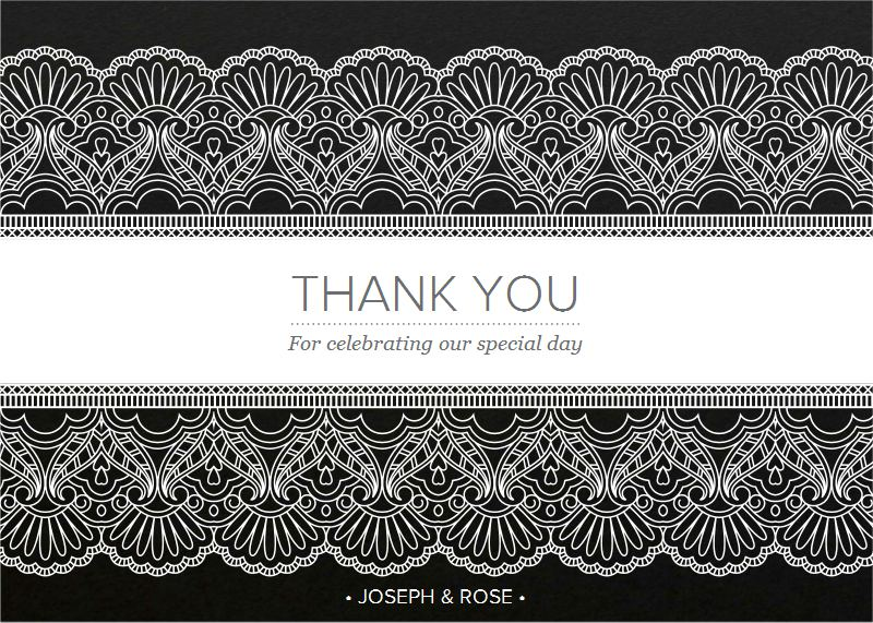 White Lace - Thank You Cards