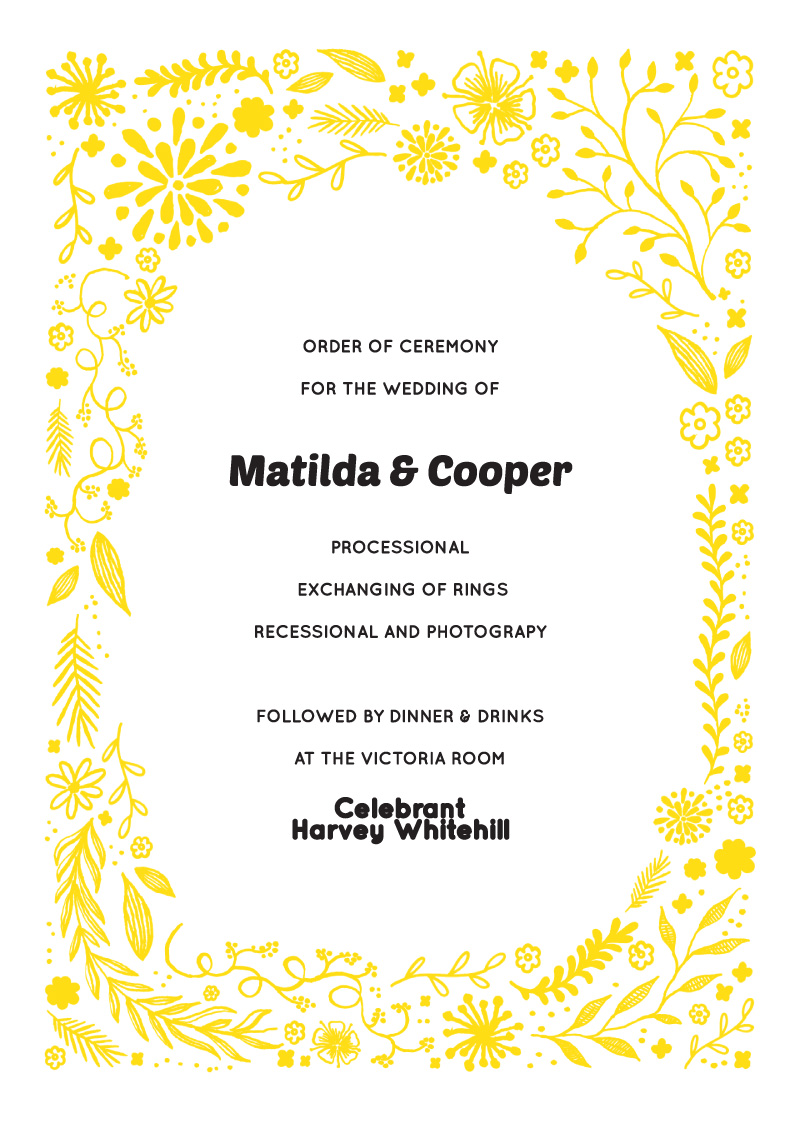 Garden Party - Wedding Programs