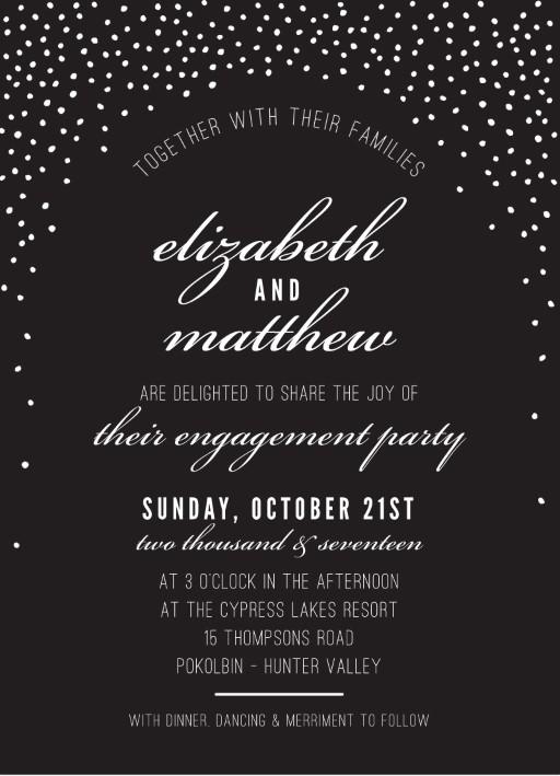 Rustic Mini Confetti Spot - engagement invitations