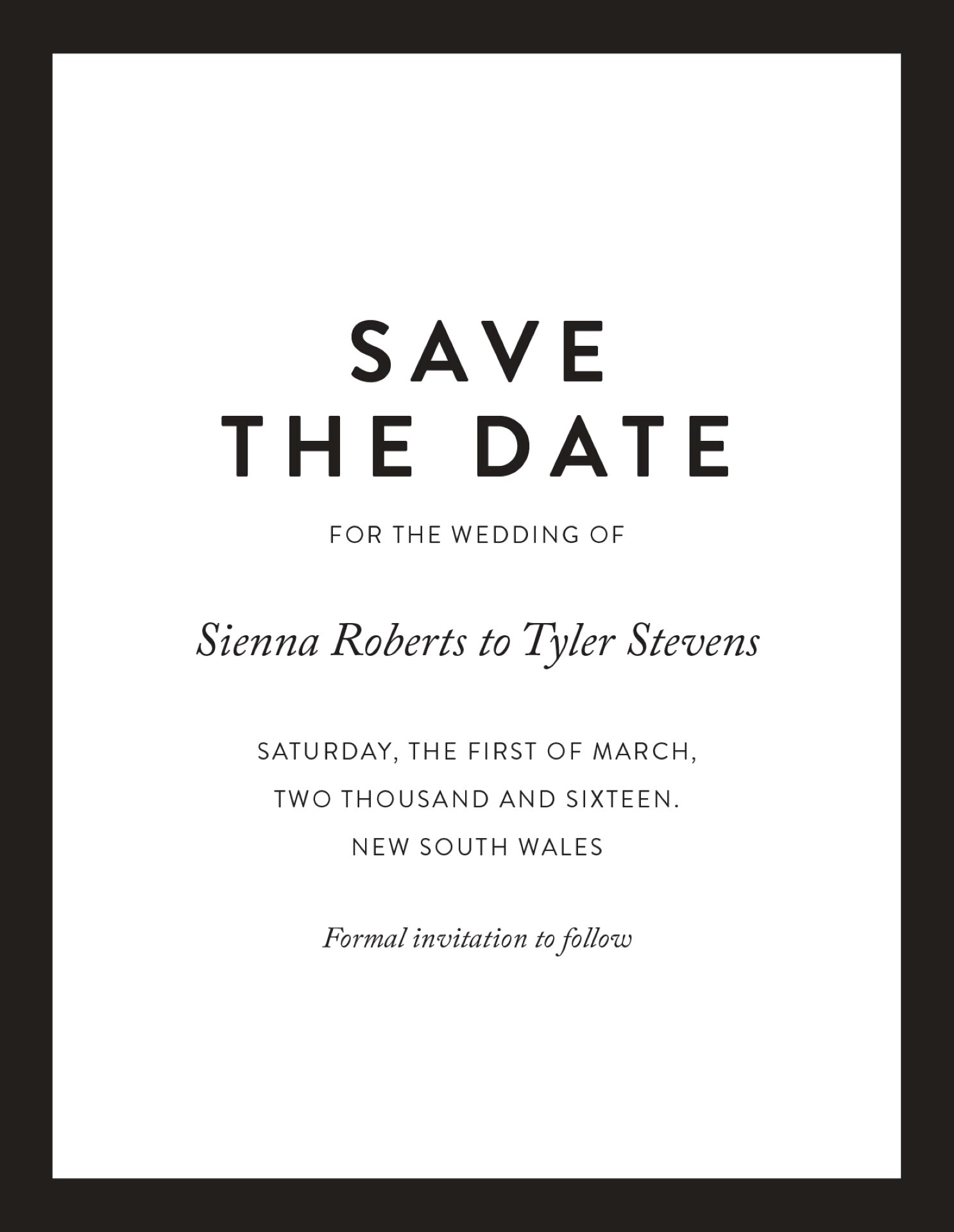 Minimal - Save The Date