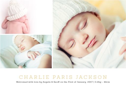 You're home - baby announcements
