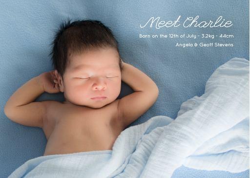 Meet the newbie Type 2 - Baby Announcement