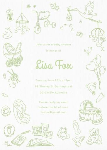 Toy Chest - baby shower invitations