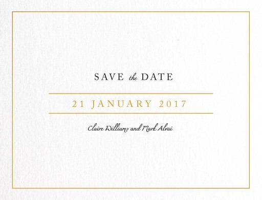 Minimal Foil - Save The Date