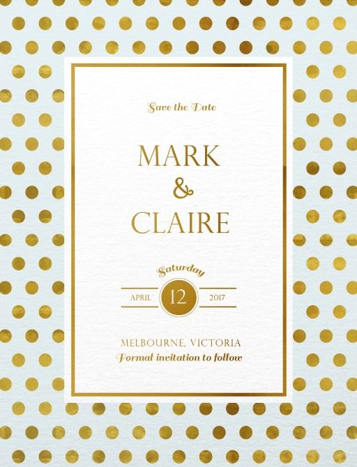 Polkadot Roses - Save The Date