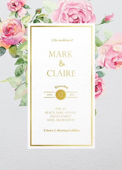 Polkadot Roses - Invitations