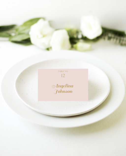 Polkadot Roses - Place Card