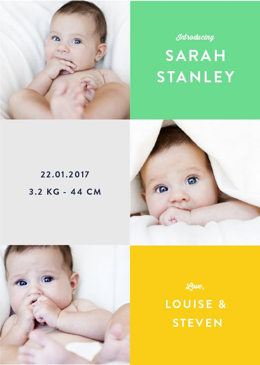 Grid - baby announcements