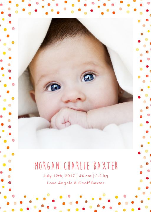 Baby Announcements Birth Announcement Cards – Announcement of Baby