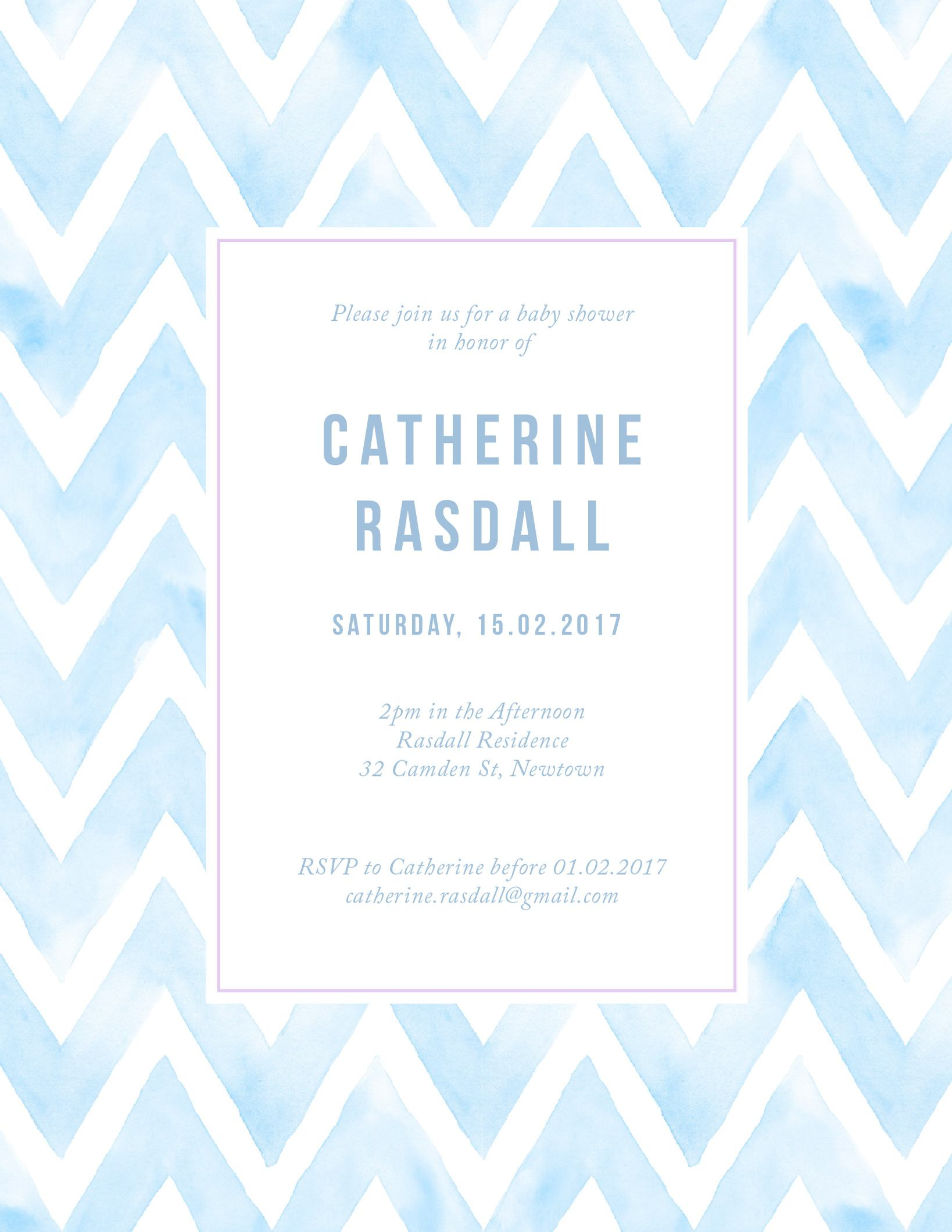 Pastel watercolour - Baby Shower Invitations