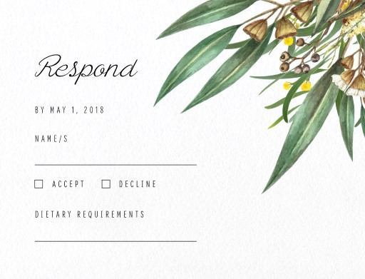 A bouquet - RSVP Cards