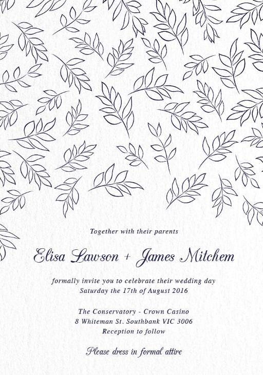 Falling Leaves - Invitations