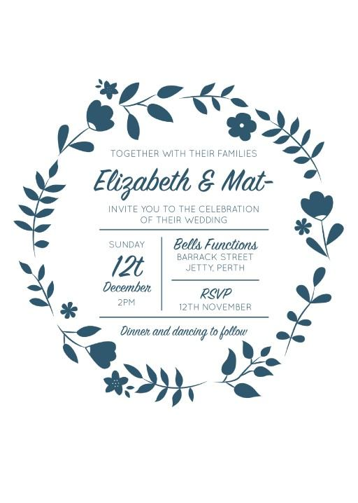Surrounded by Flowers - Invitations