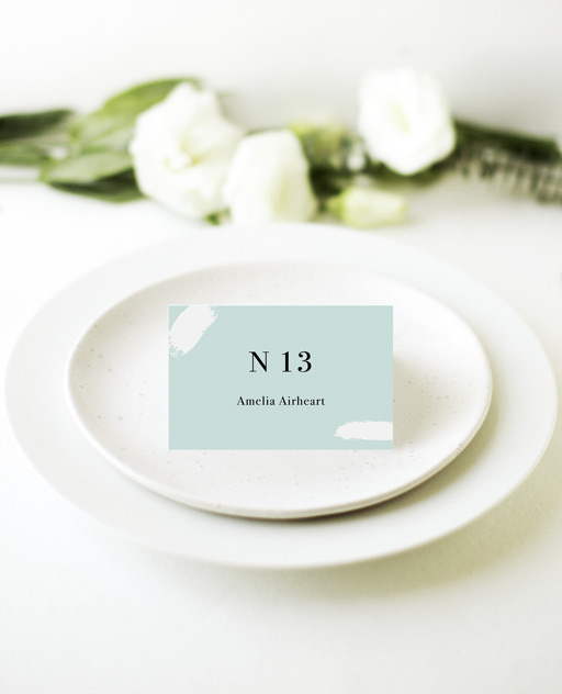 Gold Strokes - Place Card
