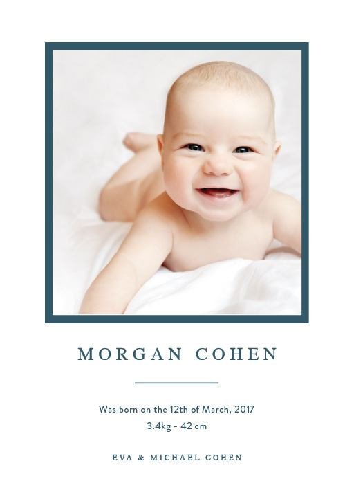 Introducing - Baby Announcement