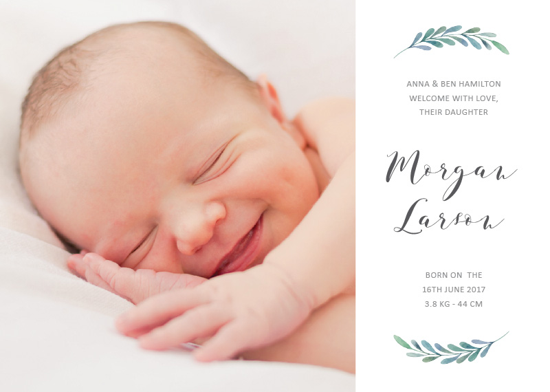 printing baby announcements