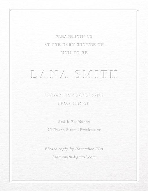 Elegant border - Baby Shower Invitations