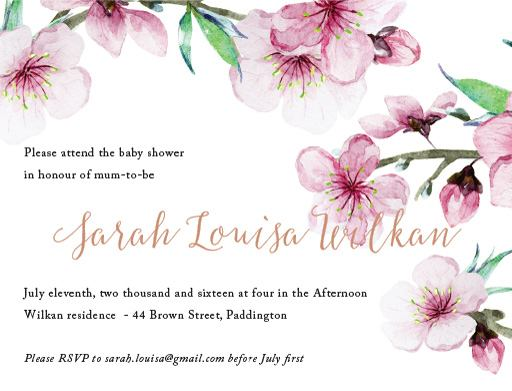 Floral shower - Baby Shower Invitations