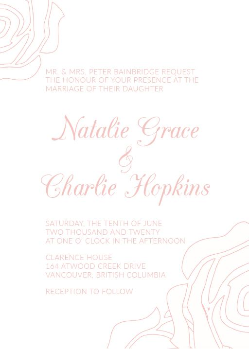 Roses and Elegance - Invitations