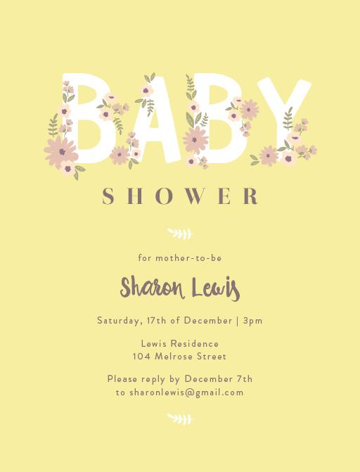 Baby Bloom - Baby Shower Invitations